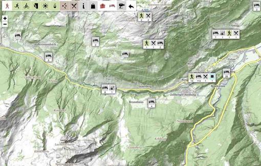 Interaktive Karte Tuxertal