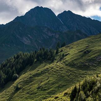 wunderschöne Alpenlandschaft