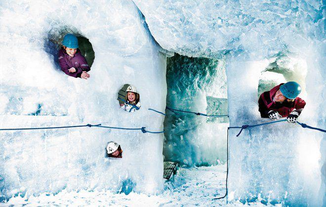 Der Natur Eis Palast in Hintertux