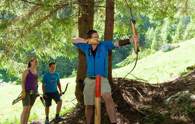 Bogenparcours Hintertux Wald