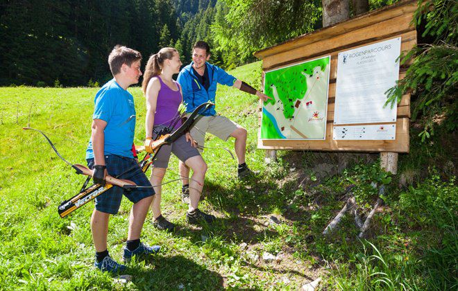 Bogenparcours Hintertux Zillertal
