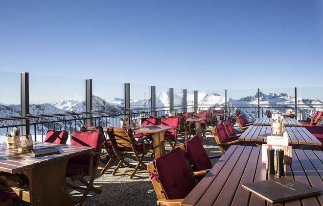 Spannagelhaus-Terrace at Hintertux Glacier