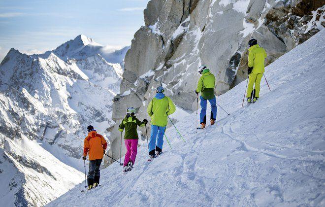 Skitour bei Sonnenschein