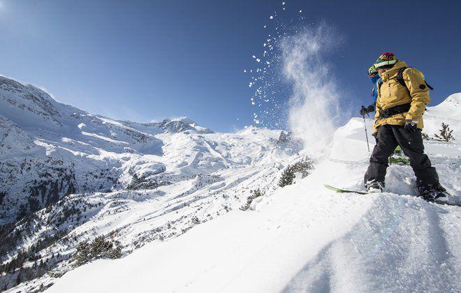 Snowboarden im Zillertal